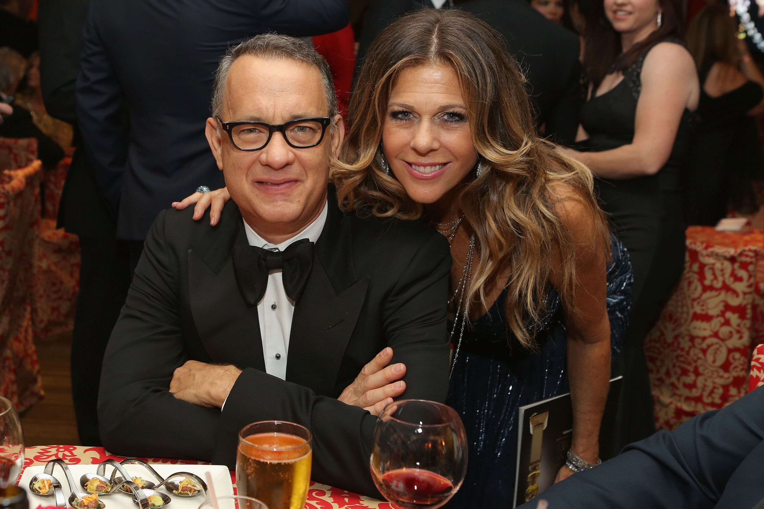 Tom Hanks and Rita Wilson at HBO's Post-Golden Globe Awards Party in 2014 | Source; Getty Images