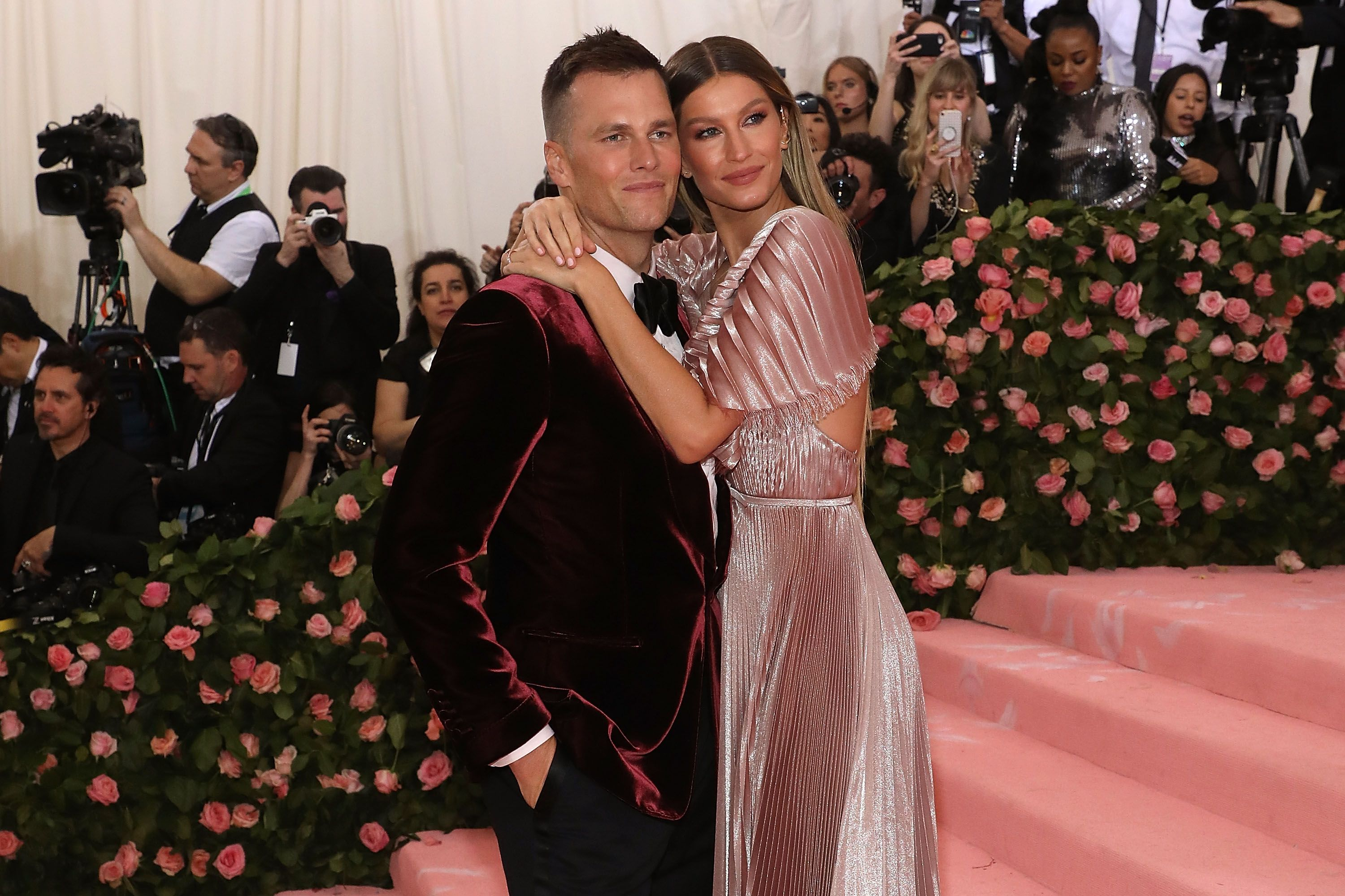 """Gisele Bundchen and Tom Brady at the Met Gala celebrating """"Camp: Notes on Fashion"""" at The Metropolitan Museum of Art on May 6, 2019 