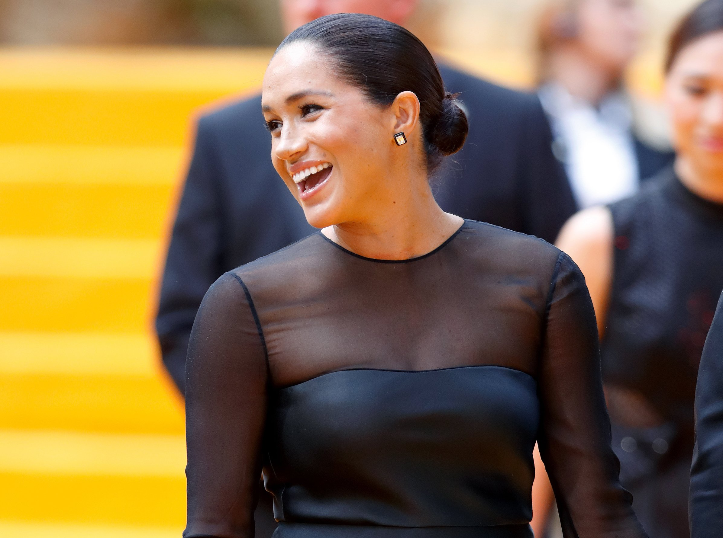 "Meghan Markle attends ""The Lion King"" premiere in London on Sunday, July 14, 2019 