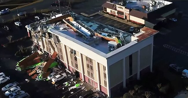 An image of a wreckage caused by a major Tonardo in Alabama | Photo: YouTube/WVTM 13 News
