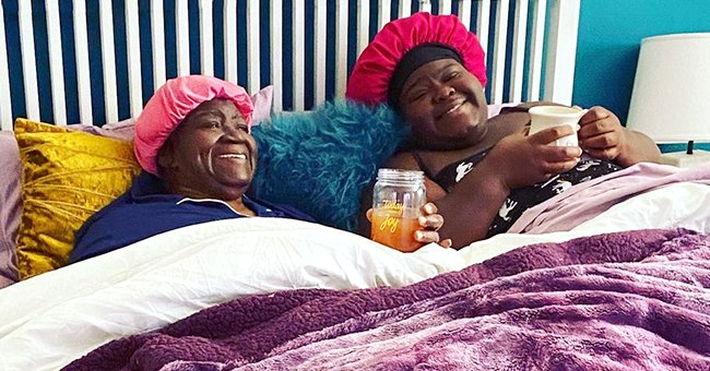 Gabby Sidibe Poses with Her Mom in a Photo Wearing Matching Bonnets — Do They Look like Twins?