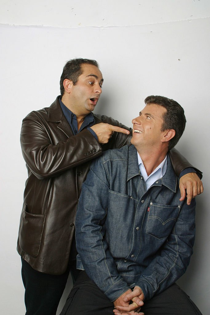 Portrait of the french TF1 presenters duet, Pascal Bataille et Laurent Fontaine. | Photo : Getty Images