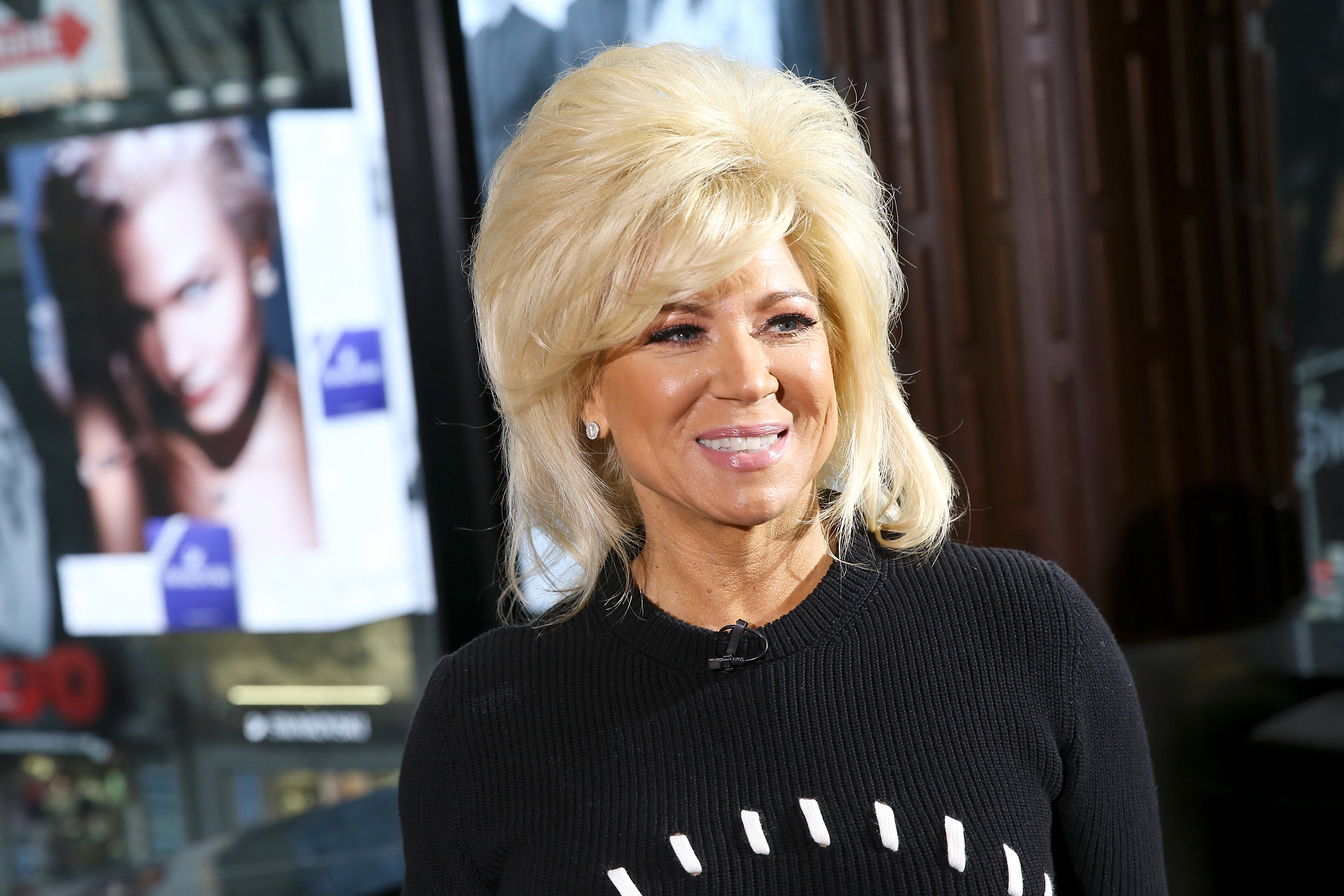 "Theresa Caputo visits ""Extra"" at Renaissance Hotel on March 29, 2018. 