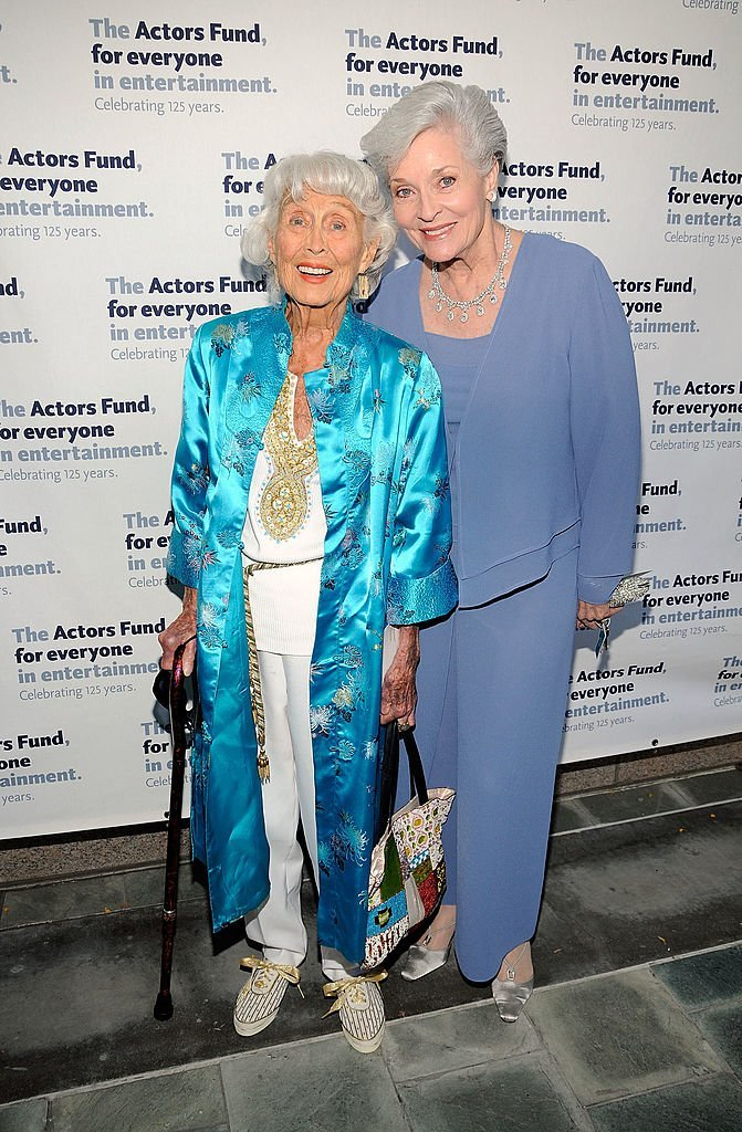Betty Garrett and Lee Meriwether arrive at the 14th Annual Actors Fund Tony Awards Party | Getty Images