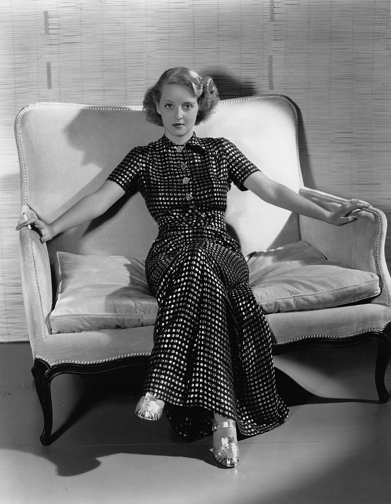 La actriz estadounidense Bette Davis. Fuente: Getty Images