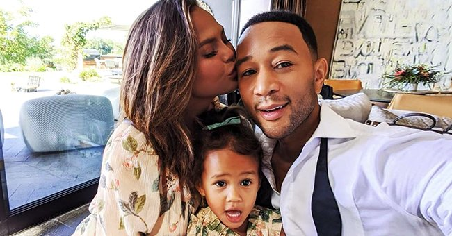 John Legend & Chrissy Teigen's Kids Are Adorable Models as They Strike Different Poses during Photo Shoot