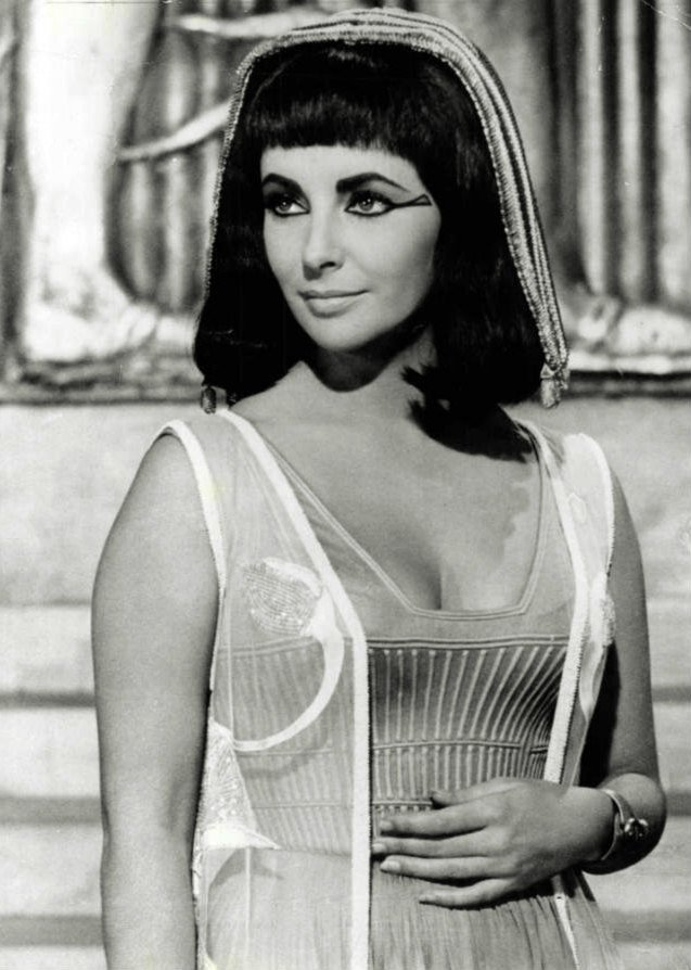 "A portrait of Elizabeth Taylor as Cleopatra in the movie ""Cleopatra"" taken during 1963. 