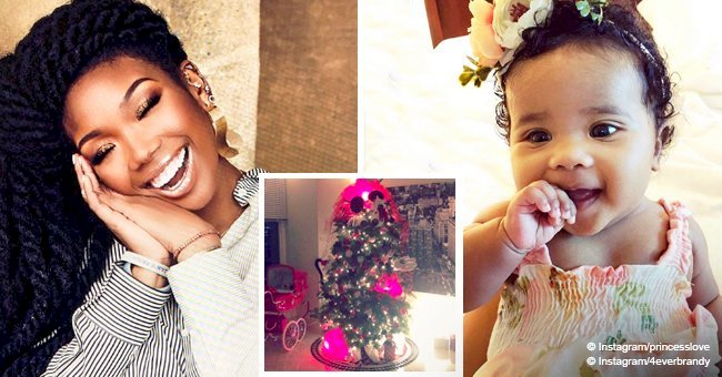 Brandy melts hearts, surprising baby Melody with a huge Mickey Mouse-themed Christmas tree