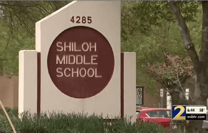 Screenshot image of Shiloh Middle School.   Photo: WSB-TV