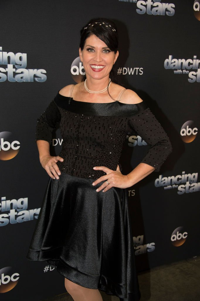 """Nancy McKeon poses at """"Dancing with the Stars"""" Season 27 at CBS Televison City on October 1, 2018 