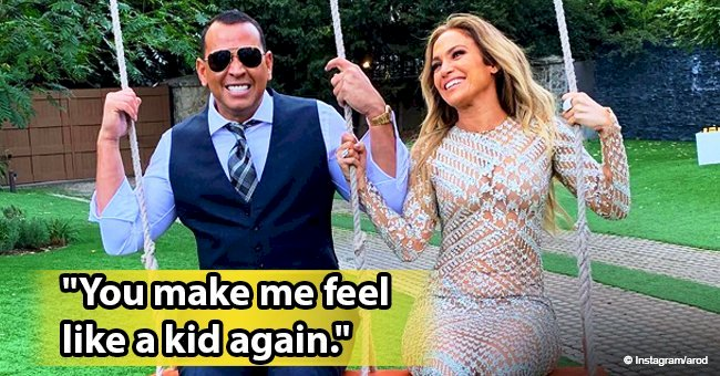 Alex Rodriguez steals hearts with photo of him and longtime girlfriend Jennifer Lopez on a swing