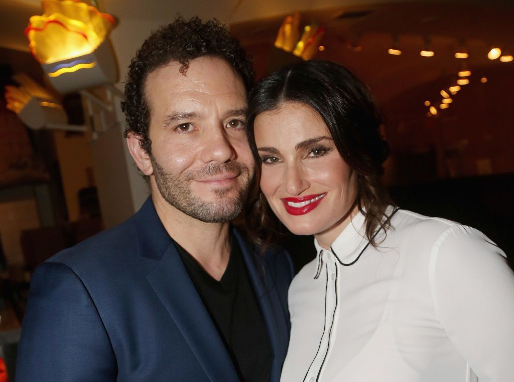 A picture of Idina Menzel and her husband, Aaron Lohr  Photo: Getty Images