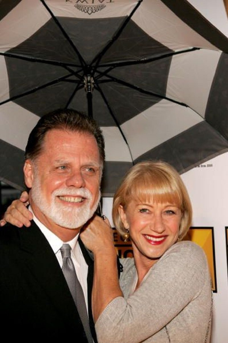 Helen Mirren and Taylor Hackford arriving at the 10th Annual Critics' Choice Awards in Los Angeles, California in January 2005. | Image: Getty Images.