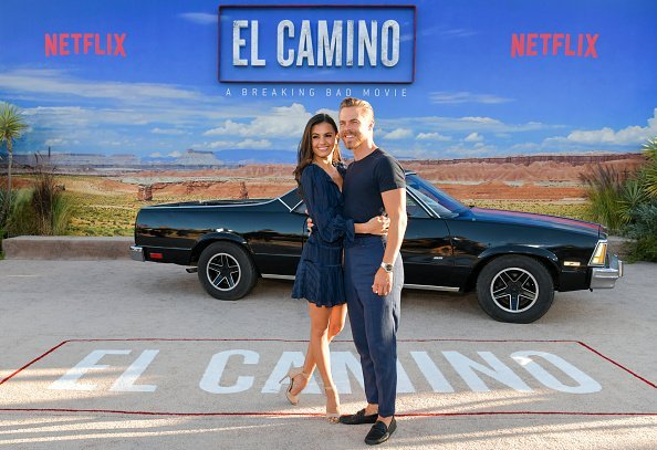 "Hayley Erbert and Derek Hough at the premiere of ""El Camino: A Breaking Bad Movie"" 