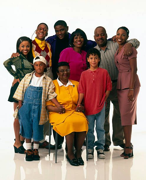"Kellie Williams and the ""Family Matters"" cast in 1996 