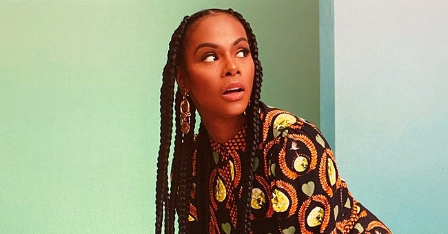 Tika Sumpter from 'Mixed-ish' Strikes a Pose in Long Printed Top & Her Long Braids in Stunning Photo