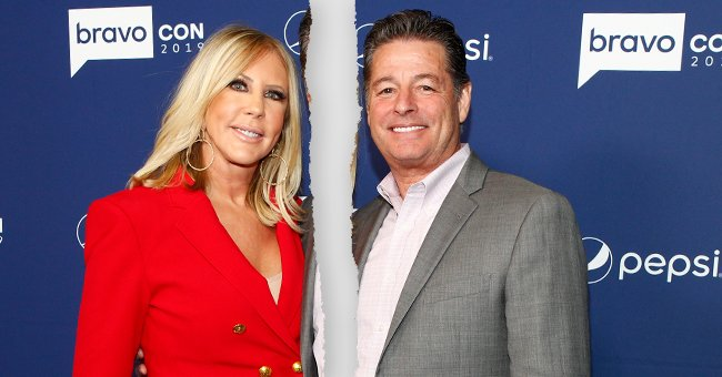 Vicki Gunvalson and Steve Lodge pictured at the BravoCon Press Room in New York City on Saturday, November 16, 2019 | Photo: Getty Images