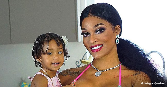 Joseline Hernandez's daughter looks adorable in pink dress and glittery shoes at a tea party