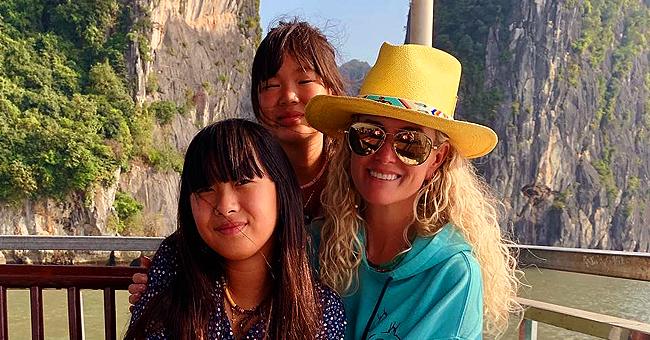 Laeticia Hallyday retrouve Jade et Joy après son voyage en l'honneur de Johnny