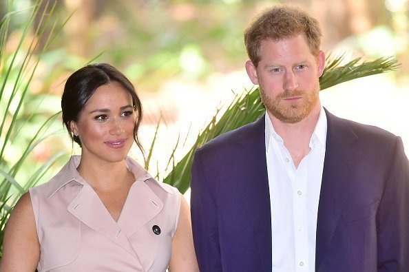 Prince Harry, Duke of Sussex and Meghan, Duchess of Sussex visit the British High Commissioner's residence to attend an afternoon Reception to celebrate the UK and South Africa's important business and investment relationship | Photo: Getty Images