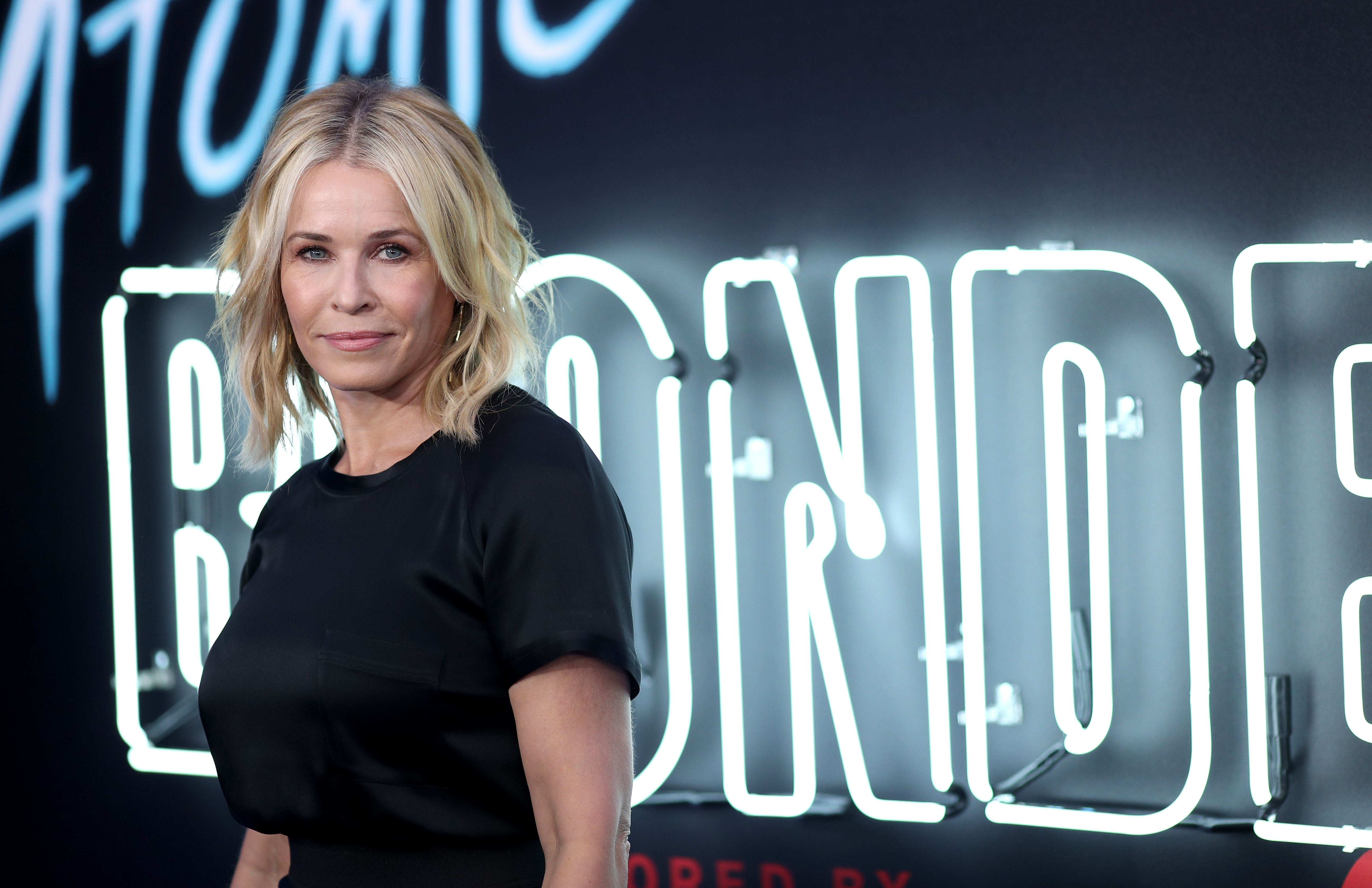 """Comedian Chelsea Handler at Focus Features' """"Atomic Blonde"""" premiere at The Theatre at Ace Hotel on July 24, 2017 