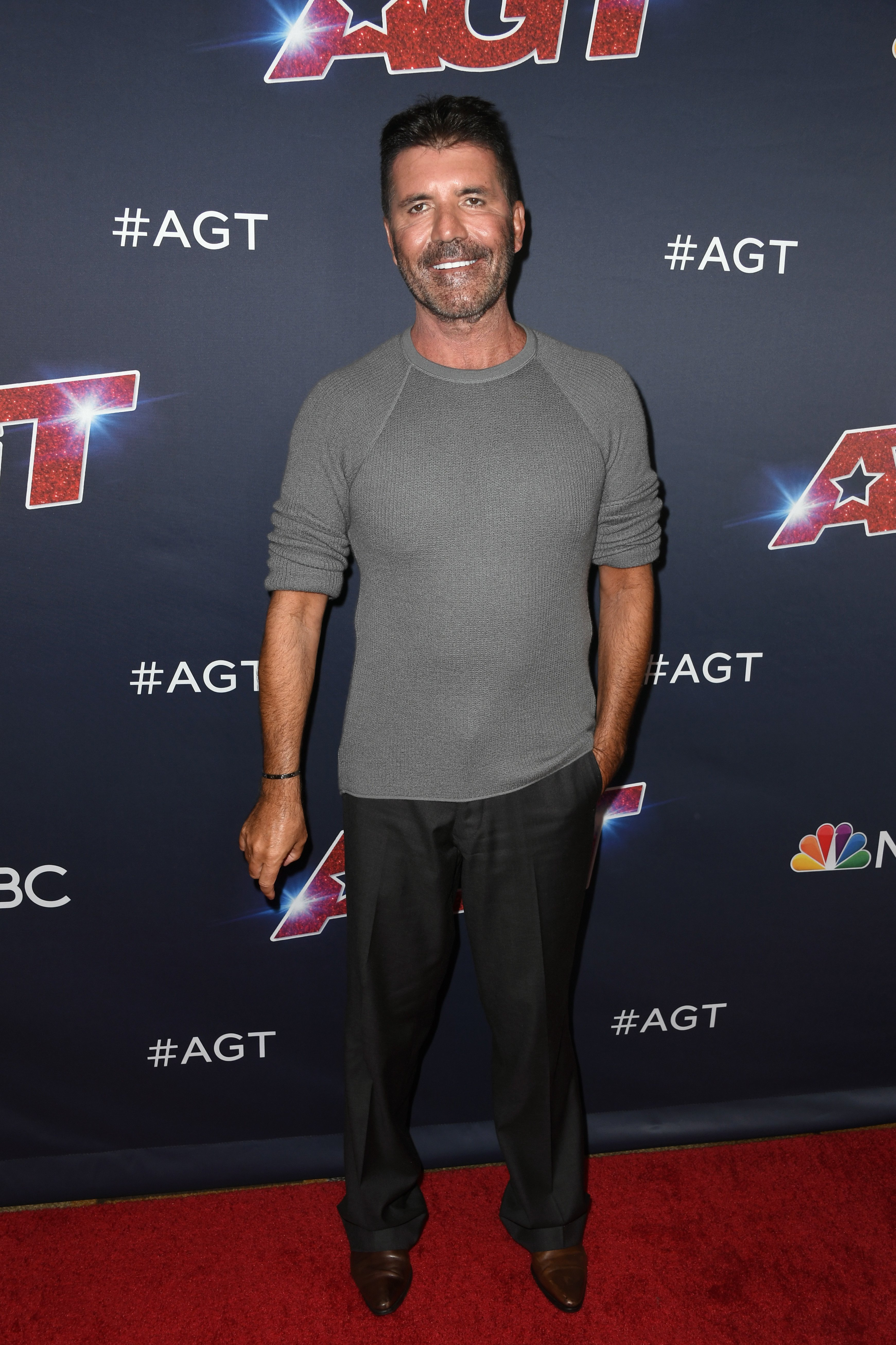 "Simon Cowell attends ""America's Got Talent"" season 14 Live Show in Hollywood, California on August 13, 2019 