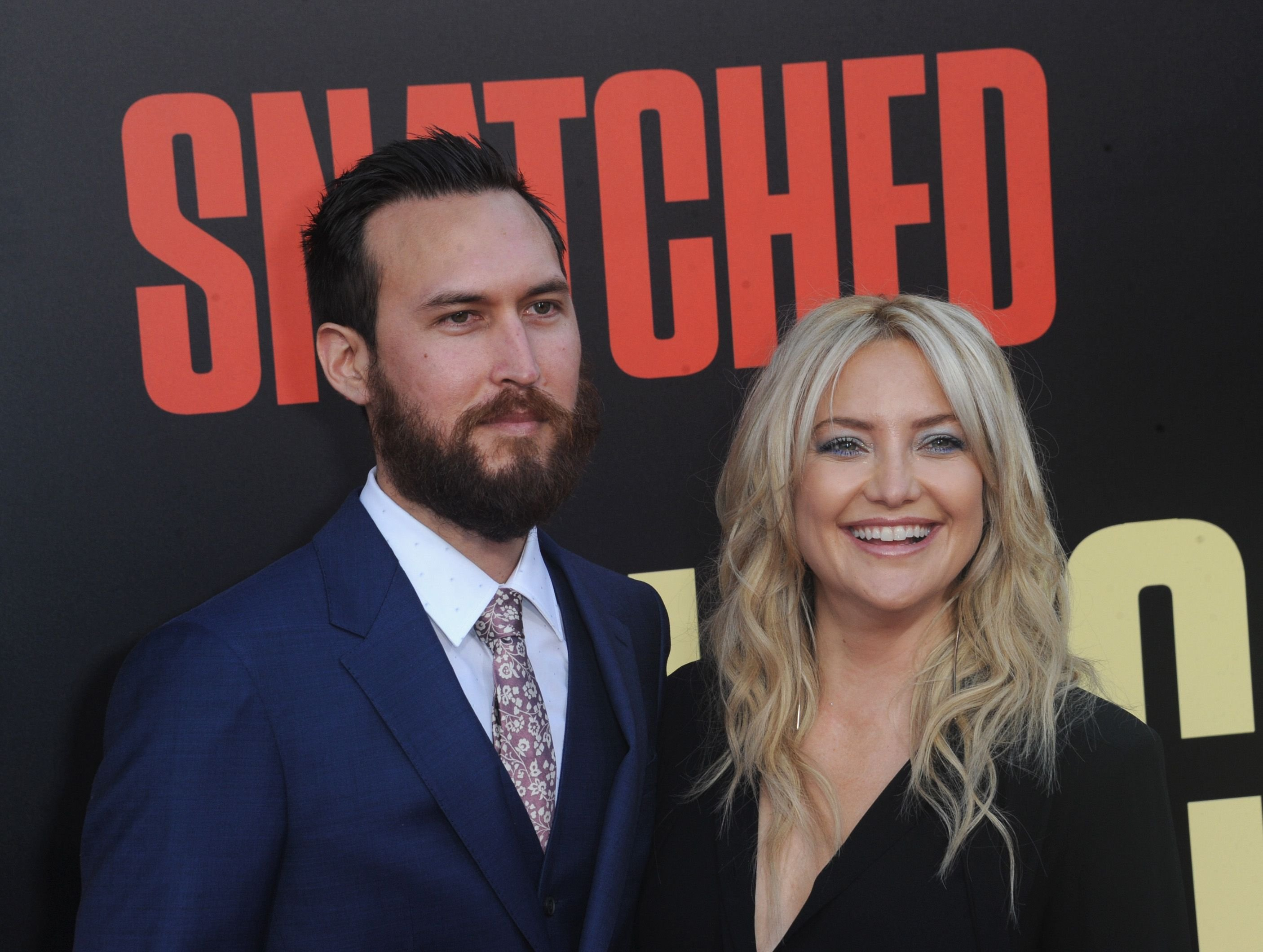 """Danny Fujikawa and Kate Hudson at the Premiere Of 20th Century Fox's """"Snatched"""" held at Regency Village Theatre on May 10, 2017   Photo: Getty Images"""