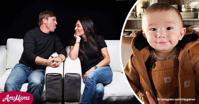 Chip Gaines shares an adorable winter photo of his son, and he's growing by leaps and bounds