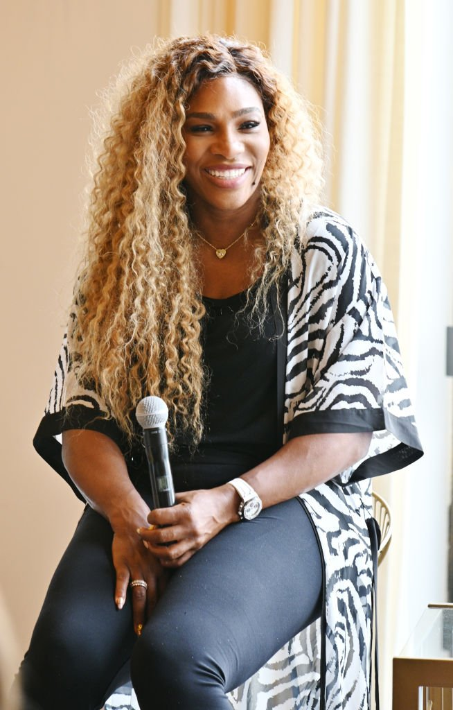 Serena Williams speaks during 'Real Talk with Two Female Champions Inspiring the Next Generation' as a part of NYFW: The Talks. Presented by Wheaties at Spring Studios | Photo: Getty Images