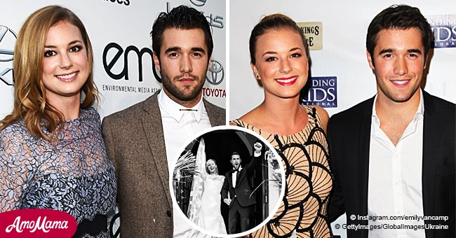 'Revenge' co-stars Emily VanCamp and Josh Bowman get married and share gorgeous wedding photos