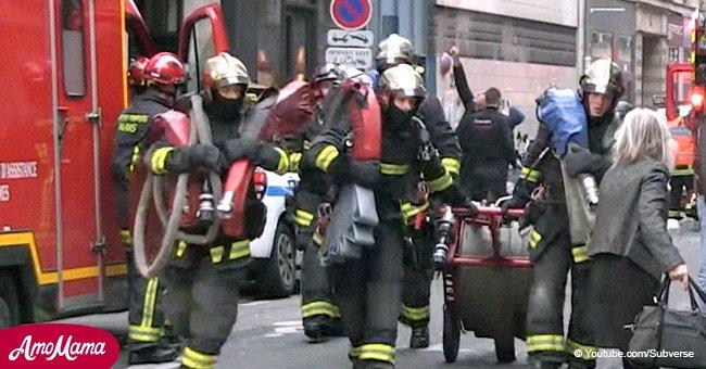 Explosion à Paris: un journaliste montre un bout de la vidéo, car cela a failli lui coûter la vie