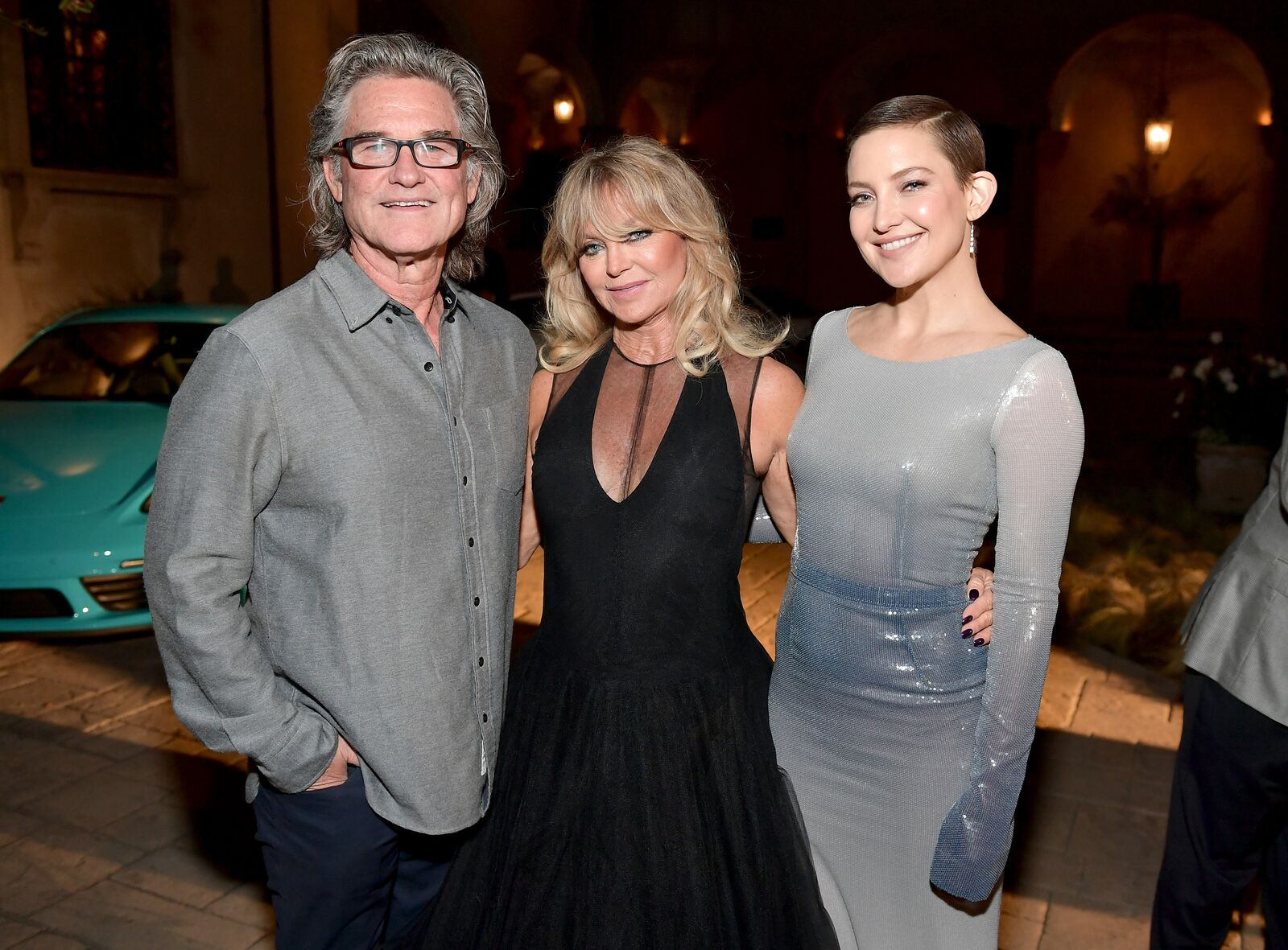 Kurt Russell, Goldie Hawn, and Kate Hudson attend Goldie's Love In For Kids at Ron Burkle's Green Acres Estate on November 3, 2017. | Photo: Getty Images