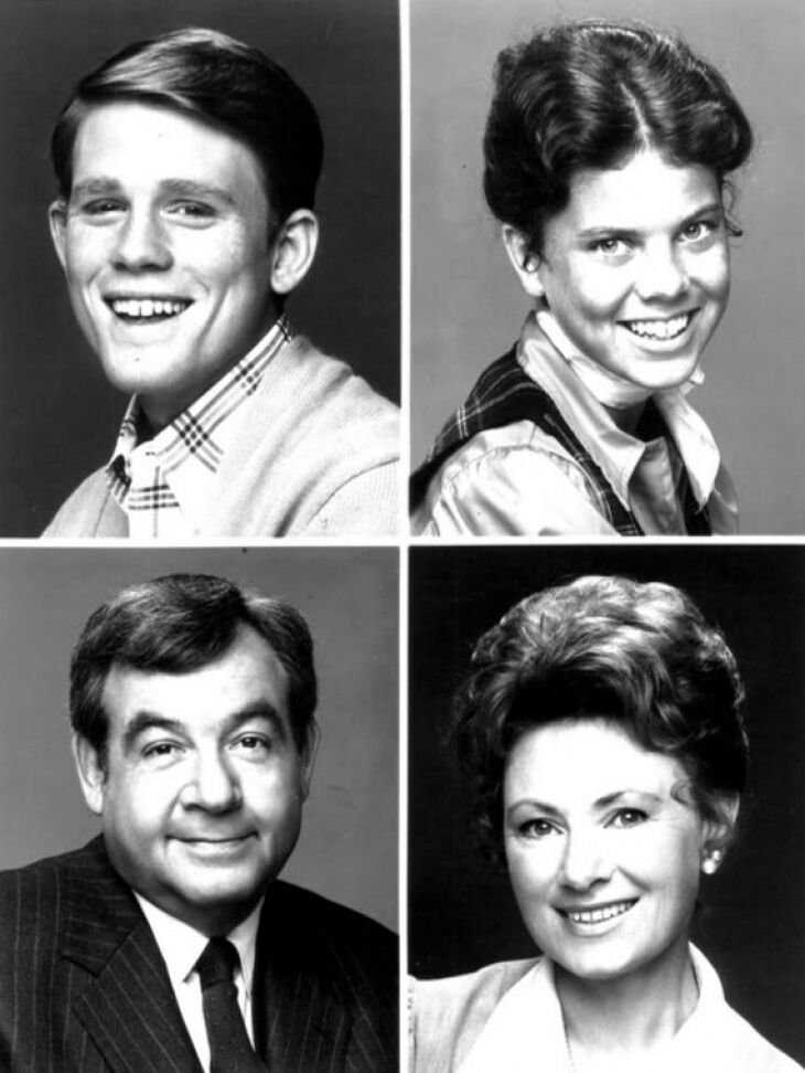 "The Cunningham family from ""Happy Days."" Source: Wikimedia commons"