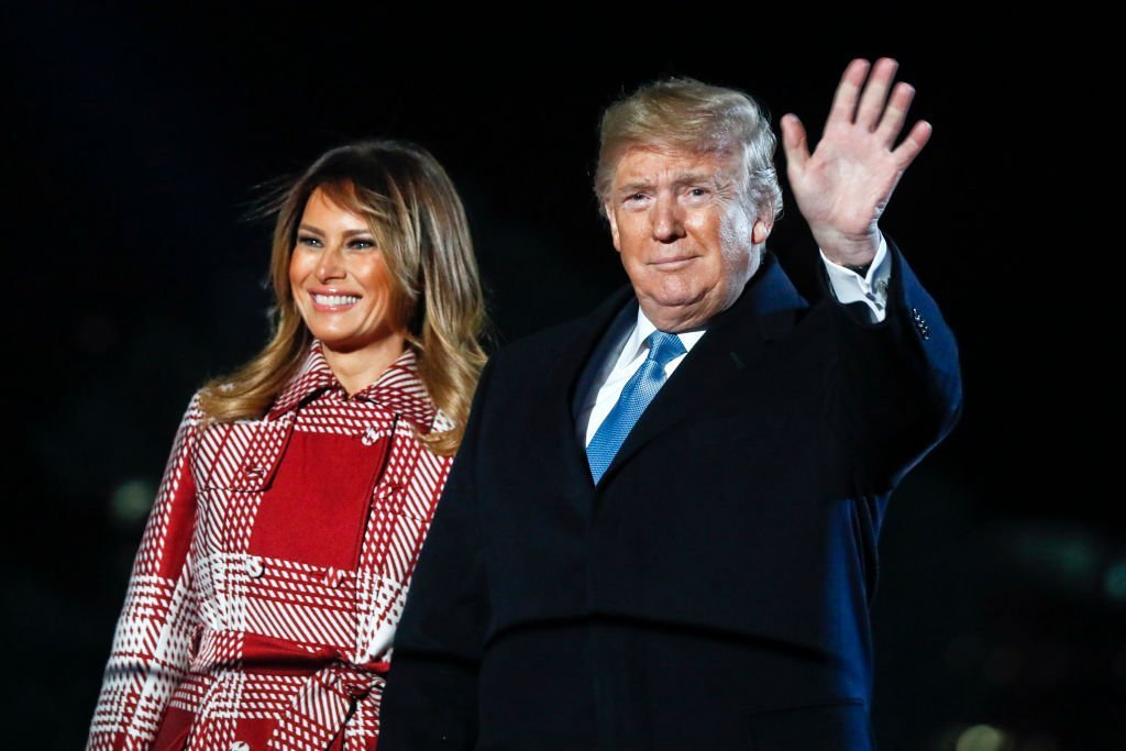 First lady Melania Trump and U.S. President Donald Trump attend the 97th Annual National Christmas Tree Lighting Ceremony in President's Park | Photo: Getty Images
