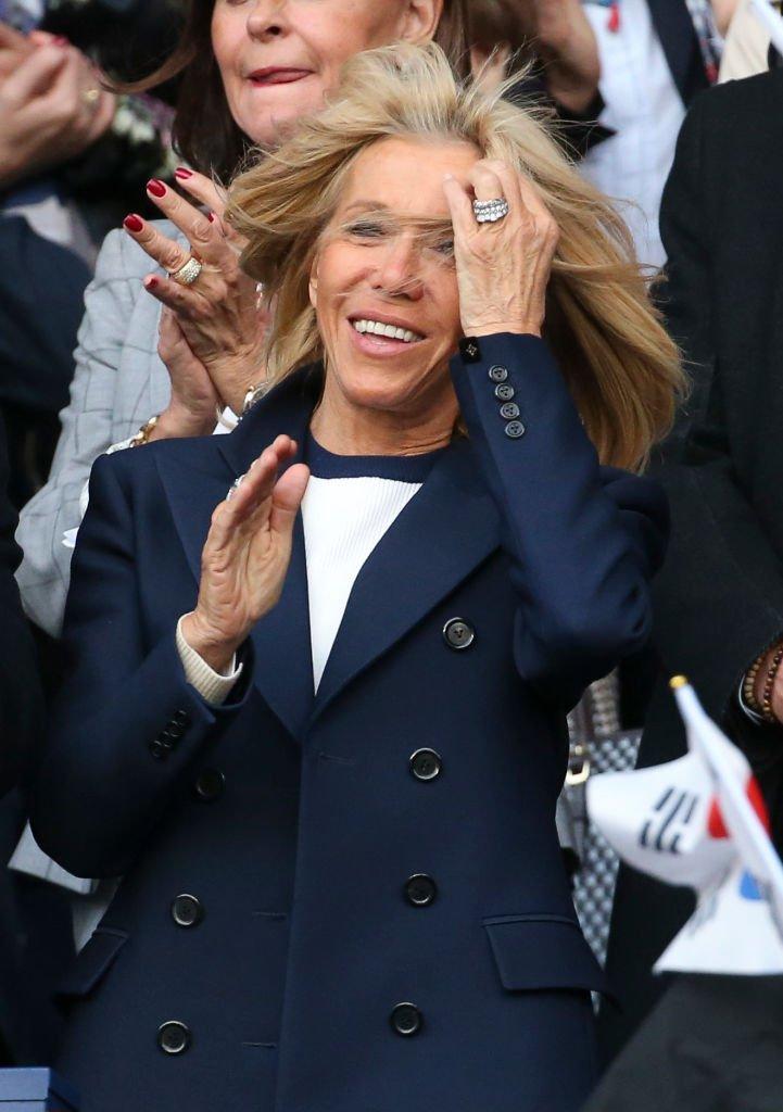 Brigitte Macron a la Coupe du Monde Féminine de la FIFA 2019, le 7 juin à Paris, en France. | Jean Catuffe/Getty Images