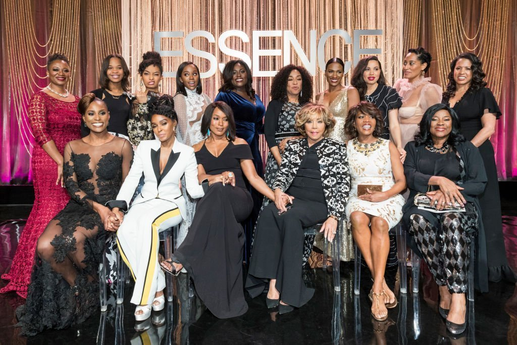 Diahann Carroll (seated third from right) in the company of a league of Black women celebrated at the Essence Black Women in Hollywood Awards in February 2017. | Photo: Getty Images