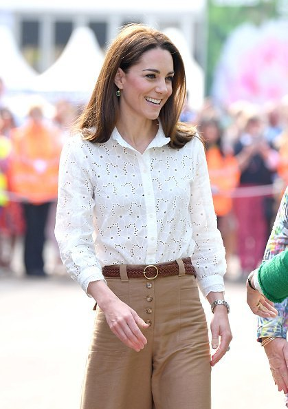 Katherine Middleton, Duchess of Cambridge at Chelsea Flower Show  in London, England.| Photo: Getty Images.