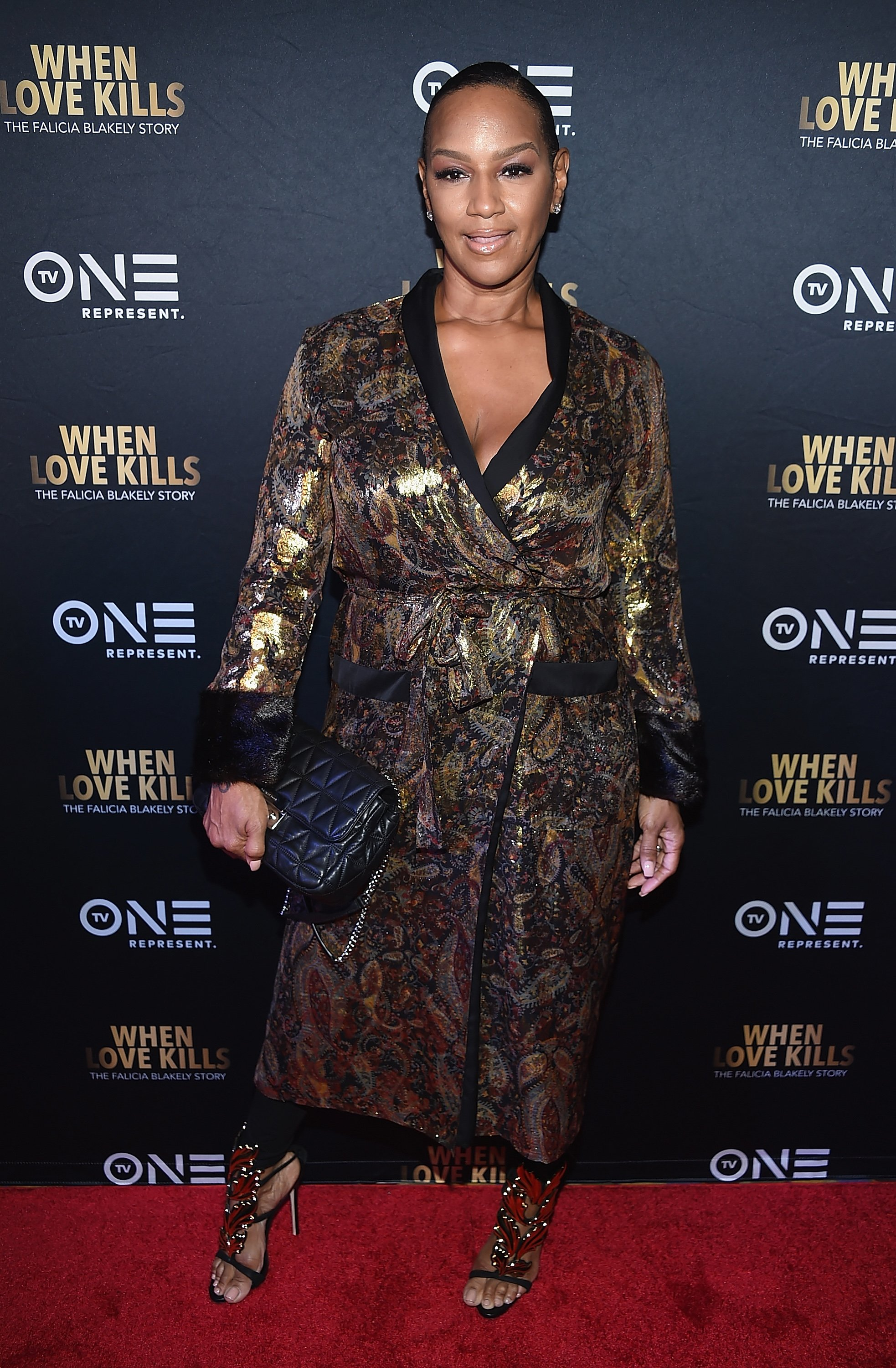 """Jackie Christie attends """"When Love Kills: The Falicia Blakely Story"""" New York Premiere. 