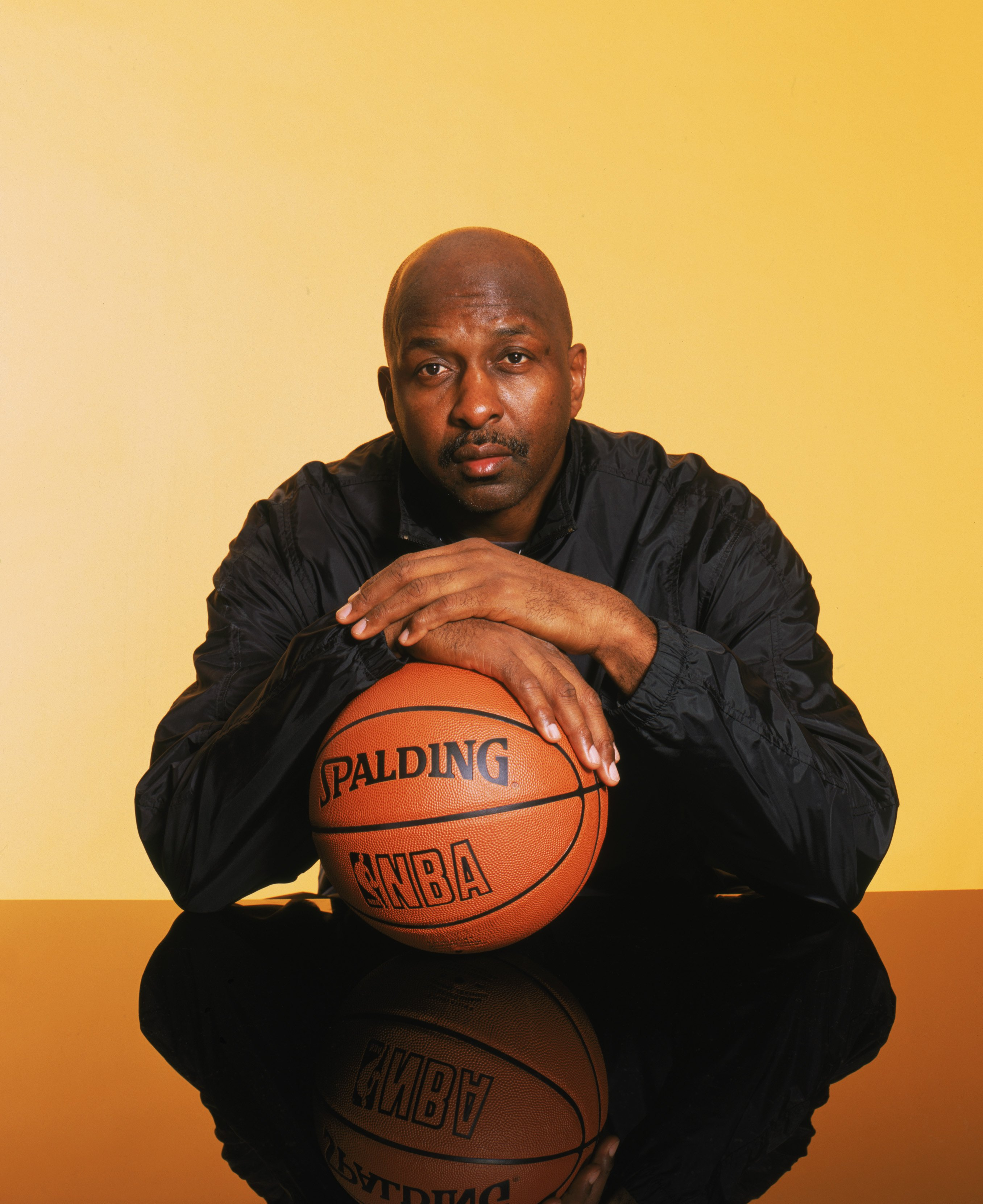 Portrait of Hall of Famer Moses Malone during the 2003 All-Star Weekend on February 9, 2003   Photo: Getty Images