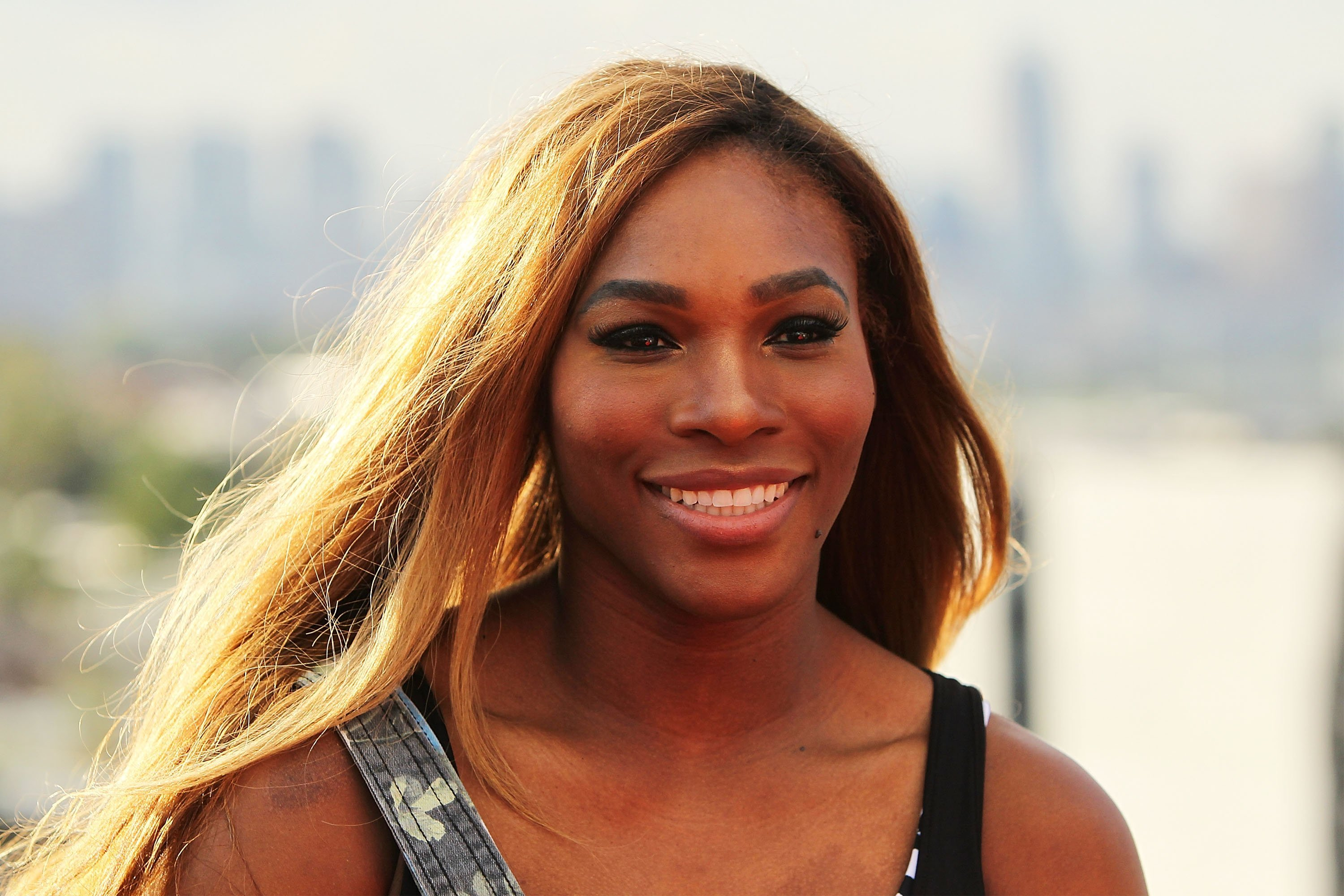 Serena Williams during a meet and greet in Melbourne, Australia in January 2014. | Photo: Getty Images
