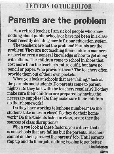 La lettre ouverte écrite par Lisa Robertson/ Source: Facebook/Tony Flowers