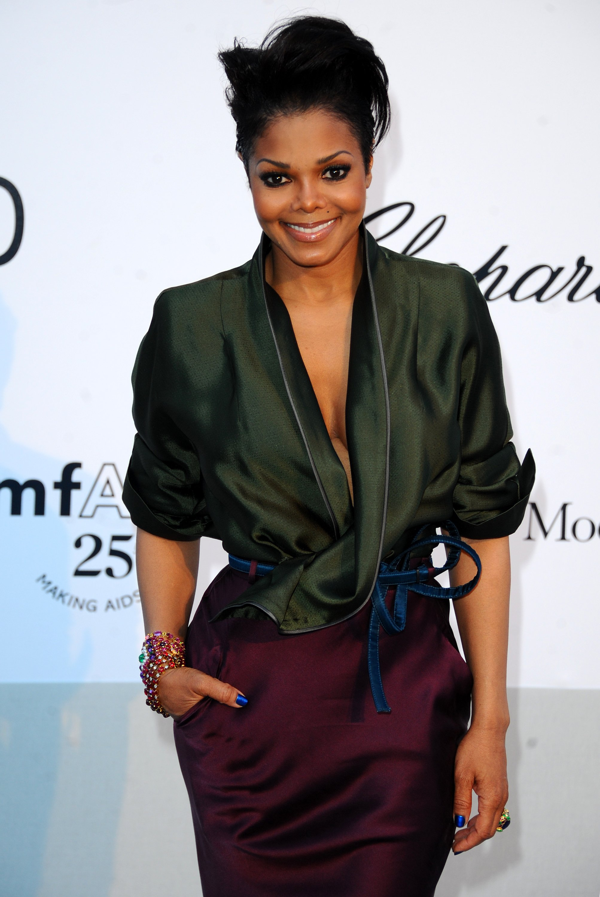 Janet Jackson in Antibes, France on May 19, 2011. |Photo: Getty Images