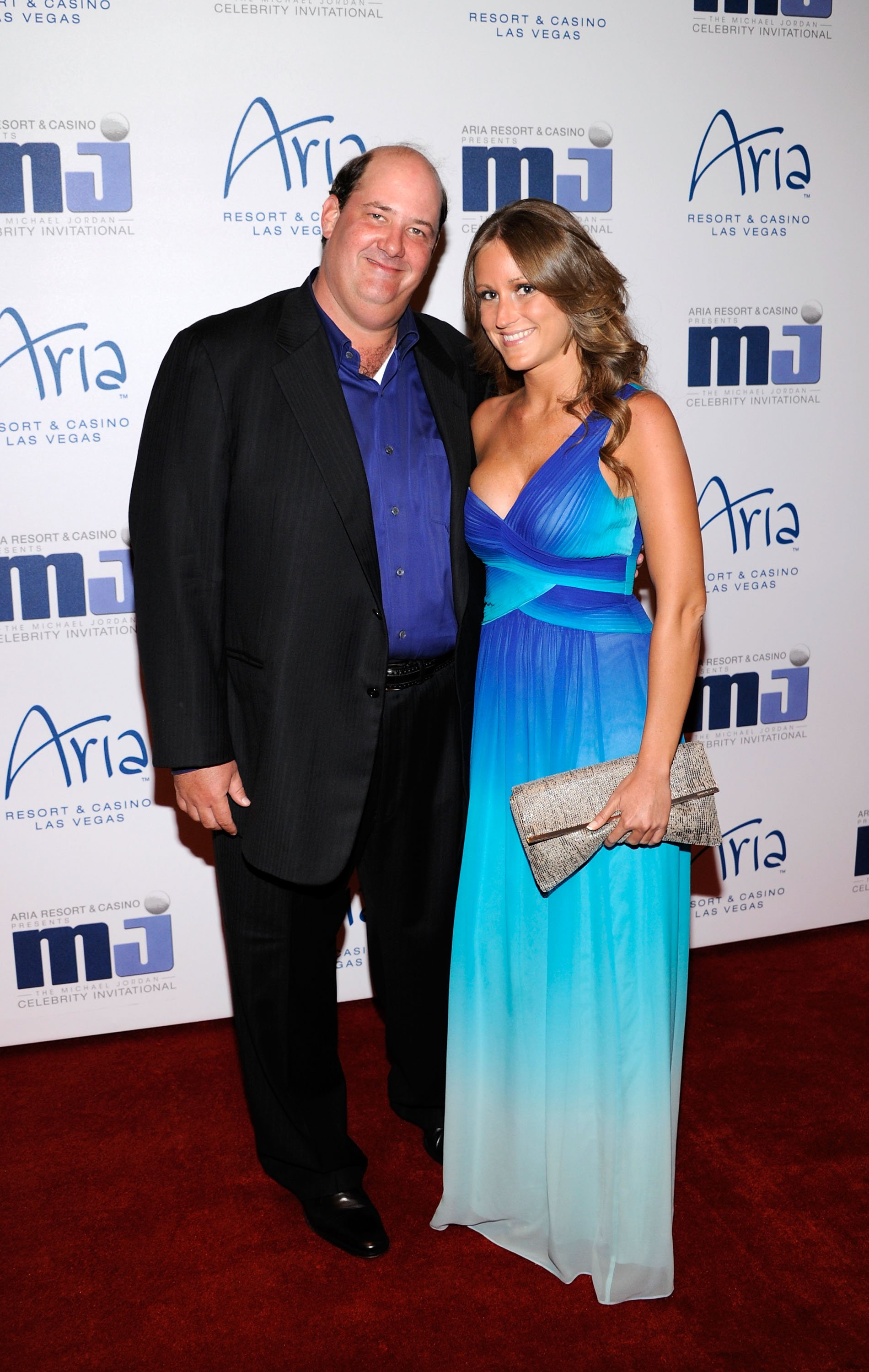 Brian Baumgartner and Celeste Ackelson arrive at the 11th annual Michael Jordan Celebrity Invitational gala at the Aria Resort & Casino at CityCenter March 30, 2011 in Las Vegas, Nevada   Photo: Getty Images