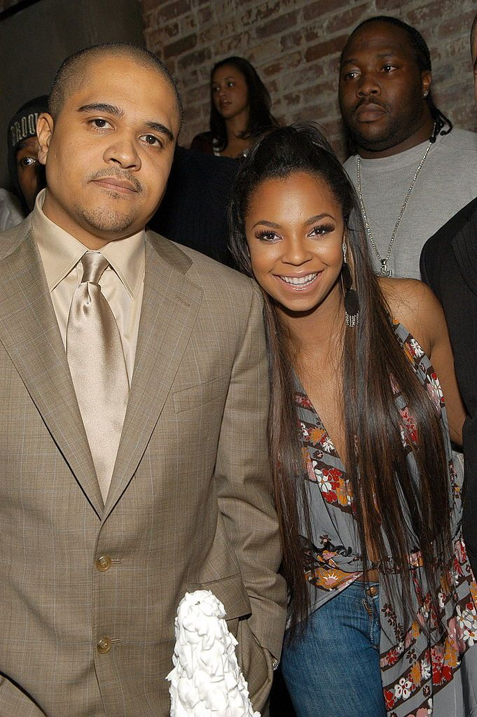 """Irv Gotti and Ashanti at the """"Collectables by Ashanti"""" album release party in 2005 in New York   Source: Getty Images"""