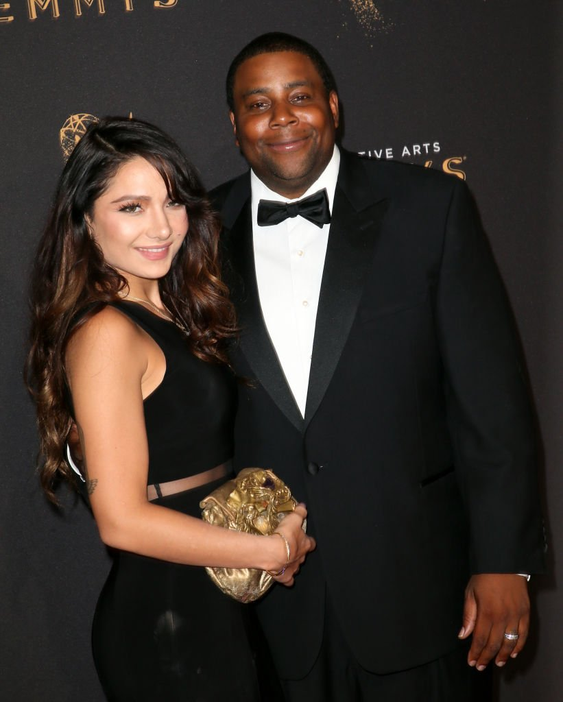Actor and comedian Kenan Thompson and his wife Christina Evangeline at the 2017 Creative Arts Emmy Awards in Los Angeles. I Image: Getty Images.