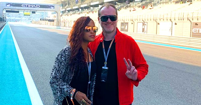 Eve from 'The Talk' Strikes a Pose in Snake-Print Outfit with Her Husband Maximillion Cooper in Abu Dhabi