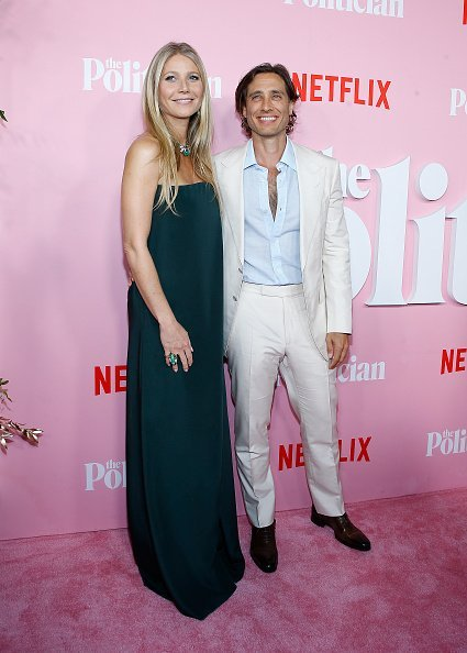 "Gwyneth Paltrow and Brad Falchuk attend ""The Politician"" New York Premiere at DGA Theater on September 26, 2019, in New York City. 