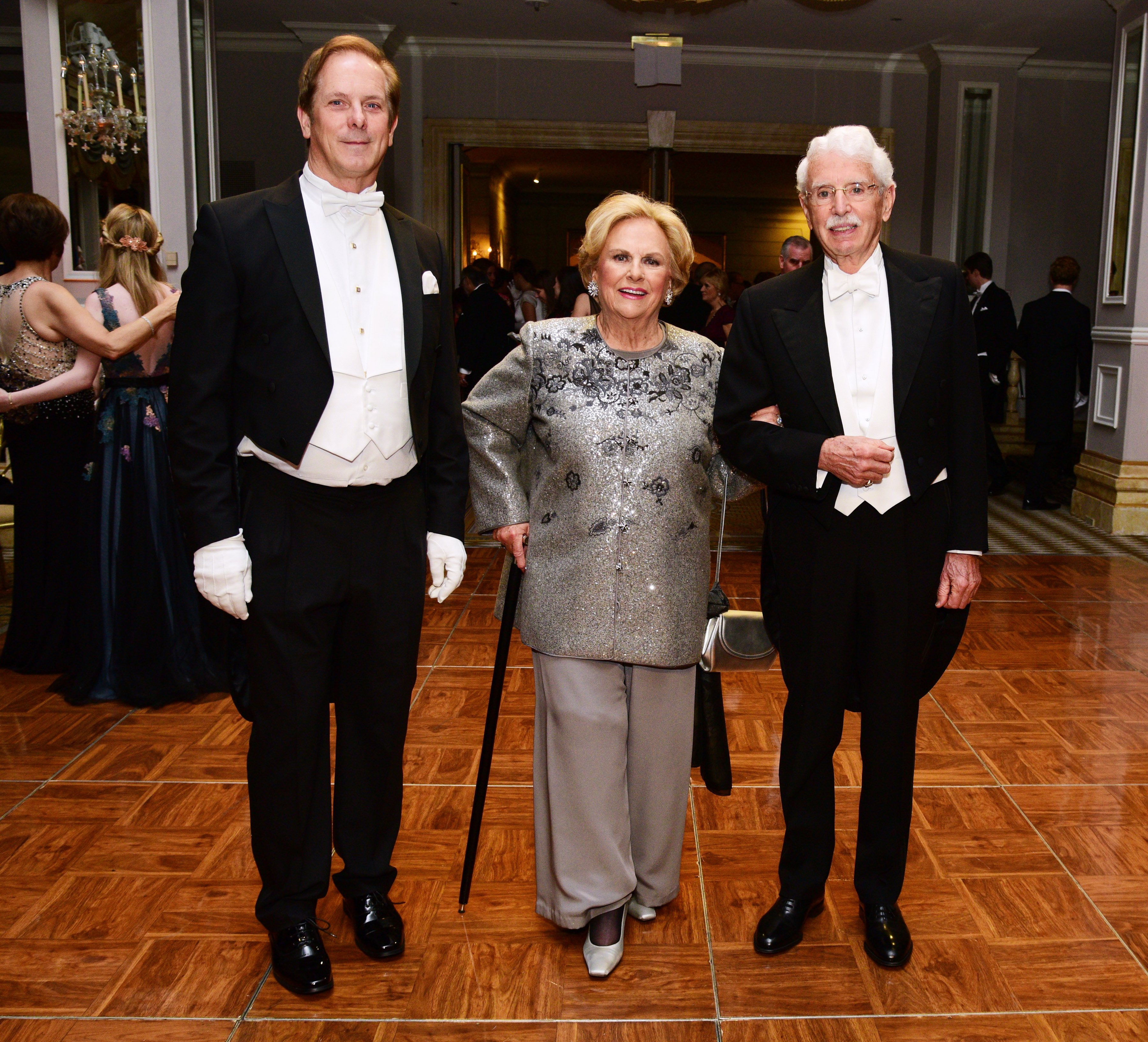 hayne Doty, Jacqueline Mars and David Badger attend The International Debutante Ball at The Pierre Hotel on December 29, 2018 in New York City.  | Photo: GettyImages