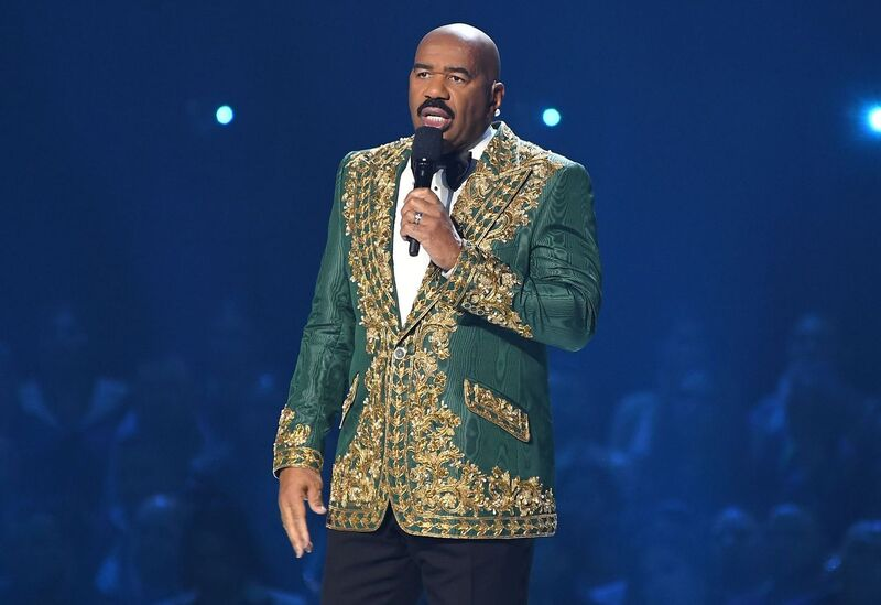 Steve Harvey hosting the Miss Universe 2019 Pageant in Atlanta, Georgia | Source: Getty Images/GlobalImagesUkraine