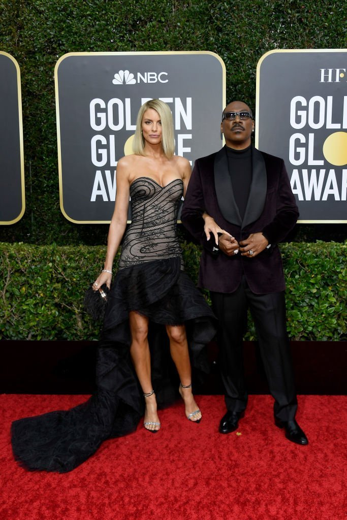 Eddie Murphy and Paige Butcher stun at the red carpet of the 77th Annual Golden Globe Awards on January 5, 2020. | Photo: Getty Images
